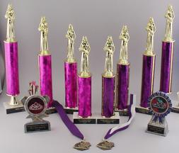 Beauty Pageant trophies and plaques