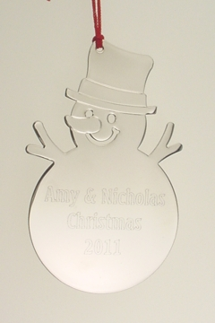 Engraved Silver plated Christmas Ornaments