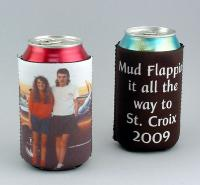 personalized photo printed can koozies can coolers and bottle wraps # HUG2