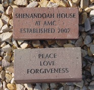 These bricks are in the memorial walkway at the Hospice at Shenandoah House in Fishersville, Virginia