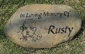 "Memorial stone marker 13/"" engraved in real river rock free shipping"