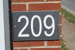 Engraved address sign or Circa sign