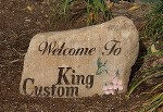 Engraved welcome stone